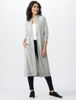 French Terry Duster Hoodie - Misses - Lt Heather Grey - Front