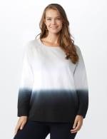 Dip-Dye Crew Neck Sweatshirt - Grey dip dye - Front