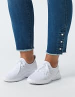 Westport Signature 5 Pocket Skinny Ankle Jean With Snap Button At Ankle - Plus - Medium Wash - Detail