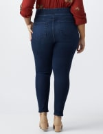 Plus- Westport Signature High Rise Pull On Jegging Jean - Rinse - Back
