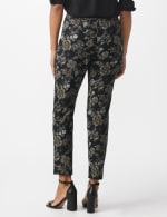 Roz & Ali Printed Superstretch Pull On Ankle Pants With Slits - Black/Grey - Back