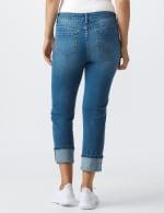 Westport Signature  5 Pocket Girlfriend Jean With Selvedge Cuff - Misses - Medium Wash - Back