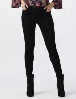 Petite Westport Signature 5 Pocket Skinny Jean - Black - Front
