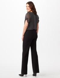 Roz & Ali Secret Agent Pull On Tummy Control Pants - Tall Length - Misses - Black - Back