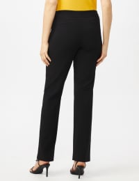 Roz & Ali Secret Agent Tummy Control Pants Cateye Rivets - Average Length - Misses - Black - Back