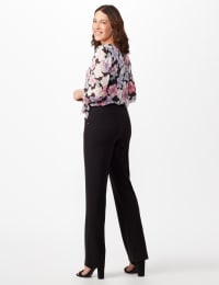 Roz & Ali Secret Agent Tummy Control Pants Cateye Rivet - Short Length - Misses - Black - Back