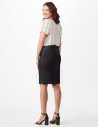 Two Buttoned-Waist Skirt - Rinse Wash - Back