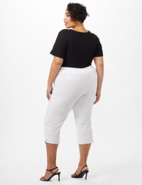 L-Pocket Pull-On Crop Pants - Optic White - Back