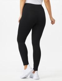 Tummy Control Legging - Black - Back