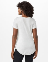 Sequin Star Tee - Heather Grey - Back