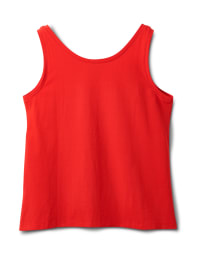 Studded Knit Tank - Plus - Red - Back