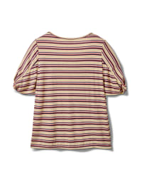 Rib Stripe Thermal Tee - Plus - Banana - Back