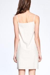Everyday Night Dress - Tan / Ivory - Back