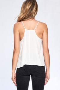 Bead Strap Flow Top - Ivory - Back