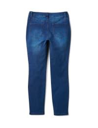 5 Pocket Dark Wash Skinny Ankle Jean - Dark Wash - Back