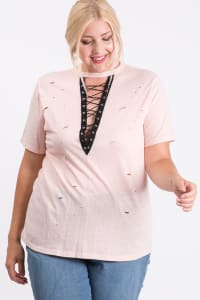 Casual Shirt With a Twist - Pink - Back