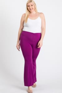 Extra days Wide Pants - Purple - Back