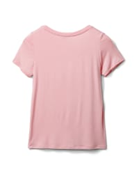 Rayon Span V-Neck Tee - Blush - Back