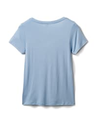 Rayon Span V-Neck Tee - Tahoe Blue - Back