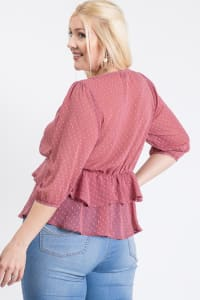 Show Off Dotted Blouse - Mauve - Back
