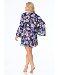 Anne Cole® Holiday Paisley Lace-Up Tunic Swimsuit Cover-Up - Multi - Back