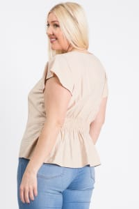 Loosen It Top - Khaki - Back