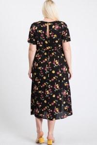 Sunkissed Floral Dress - Black - Back