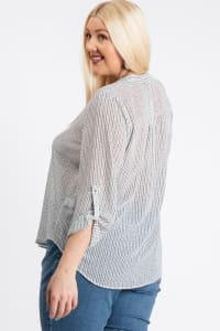 Comfy V-Neck Top - White - Back