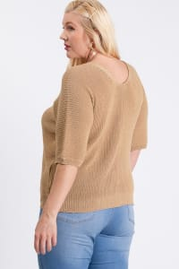 V-Neck Sweater - Mocha - Back