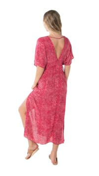 Bisous Tunic - Ular Red - Back