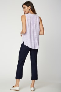 NYDJ Sleeveless Pintuck Blouse - Misses - LILAC CAT - Back
