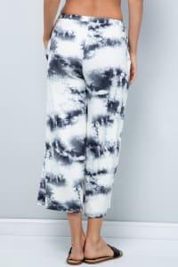Cropped Wide-Leg Pants - Ivory - Back