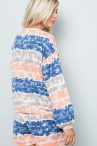 Tie Dye Pullover Top - Ink blue - Back