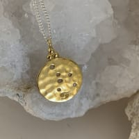 Cancer Star Sign Zodiac Constellation Necklace In Gold Plated Sterling Silver - Gold plated / Sterling silver - Back