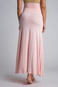 Ultra-Soft Maternity Fold-Over Skirt - Blush - Back