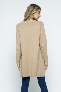 Fine Knit Open Front Draped Cardigan - Coco - Back