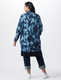 Roz & Ali Tie Dye Duster - Plus - Navy - Back
