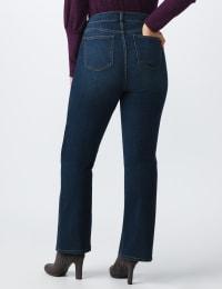 Plus Westport Signature 5 Pocket Bootcut Jean - Dark Wash - Back