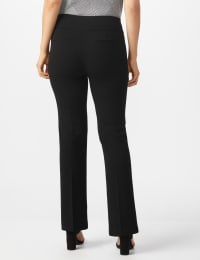Pull On Flare Leg Pants with Zip Pockets - Black - Back