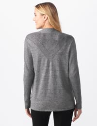 Roz & Ali Everyday Cardigan - Misses - Black/Coconut White - Back