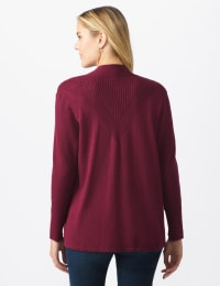 Roz & Ali Everyday Cardigan - Misses - Night Sangria - Back