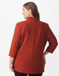 Notch Collar Open Topper- Plus - Brick - Back