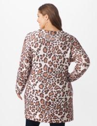 Roz & Ali Eyelash Animal Tunic Sweater - Multi - Back
