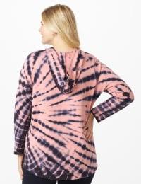 DB Sunday Tie Dye Hoodie - Plus - Mauve Pink - Back