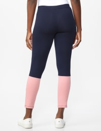 DB Sunday Color Block Legging - Navy with mauve - Back