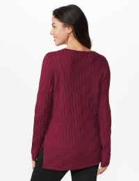The Roz & Ali Everyday Pullover - Night Sangria - Back