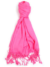 Breast Cancer Awareness Solid Fashion Scarf - Fuchsia - Back