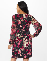 Leaf Sheath Dress - Rosewood - Back