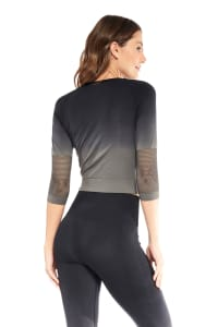 Lexi Long Sleeve Top - Black - Back