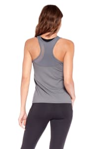 Speed Up Racer Back Tank - Charcoal - Back